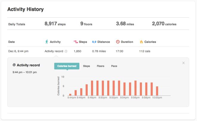 caloricburn-dashboard-after-walk-fitbit