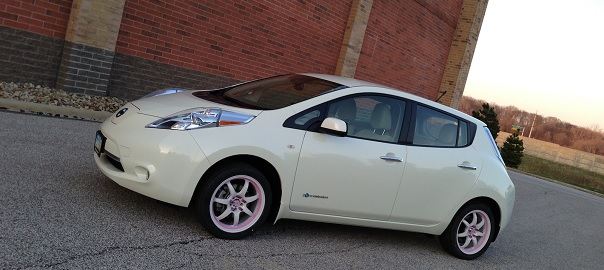 How far can you drive on a full charge in a Nissan Leaf EV?