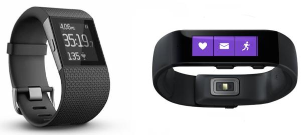 QUICK COMPARISON: Fitbit Surge versus MicrosoftBand