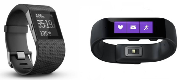 QUICK COMPARISON: Fitbit Surge versus Microsoft Band