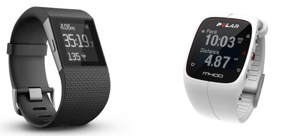 QUICK COMPARISON: Fitbit Surge versus Polar M400