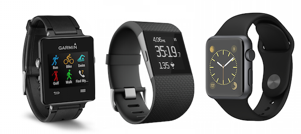 BATTLE! – Apple Watch Sport versus Fitbit Surge versus Garmin Vivoactive