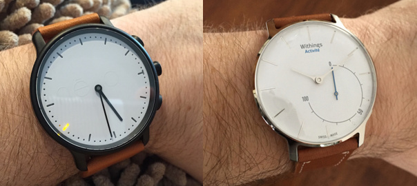 COMPARISON: Withings Activité (Pop) versus the névo minimalist watch
