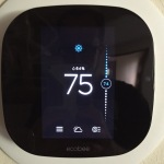 Home page of the ecobee3 HomeKit compatible smart home thermostat