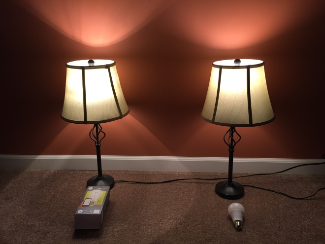 Left: GE Link bulb - Right: TCP Connected bulb