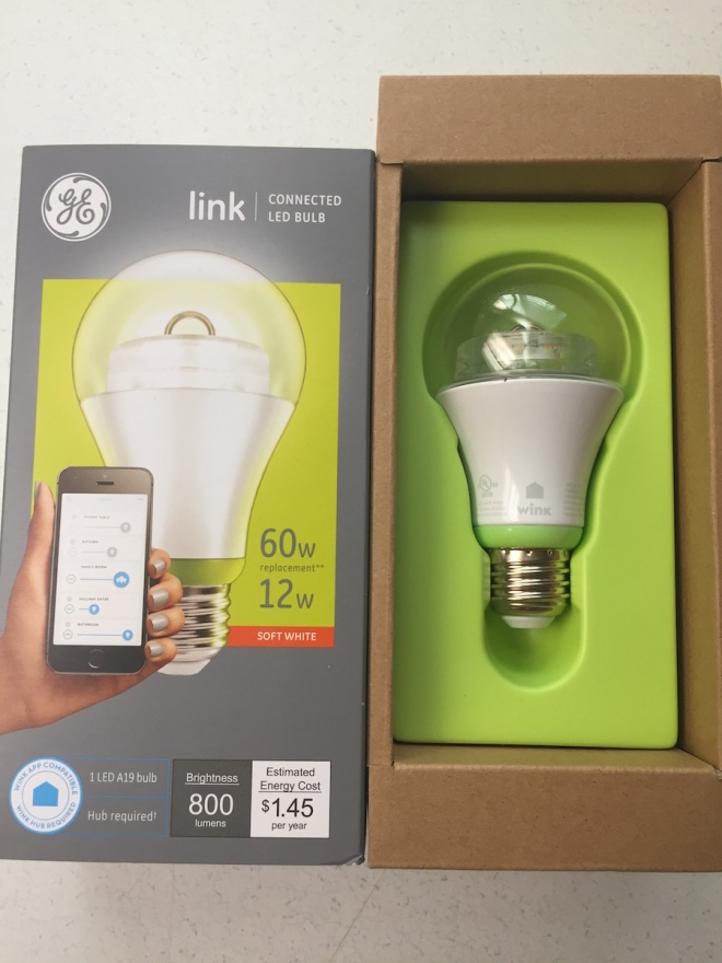 GE Link bulb unboxing