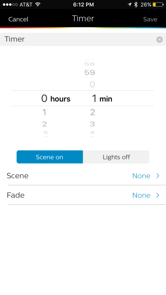 more views from within the Philips Hue app