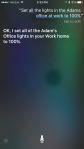 INSTEON - iPhone 6S using voice/Siri to control lights