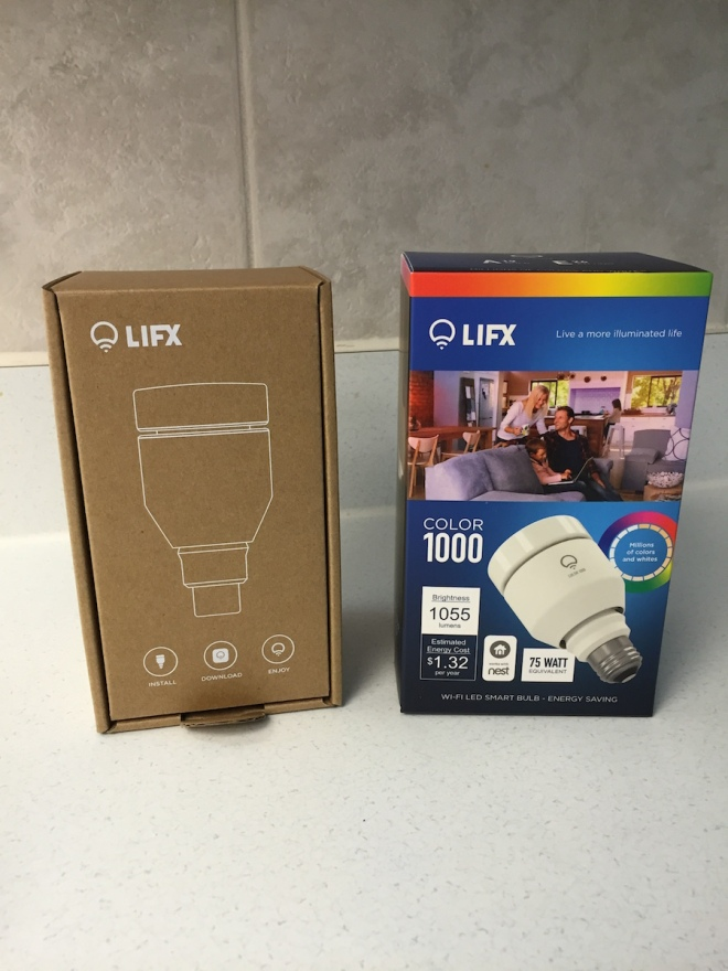 Unboxing of our LIFX 1000 Color bulb