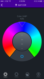 Adjusting color and brightness with the wheel on the LIFX is easier than most of the other apps