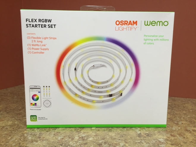 OSRAM Lightify joint venture with WeMo Belkin offers flexible multiple color lighting LED like the Hue