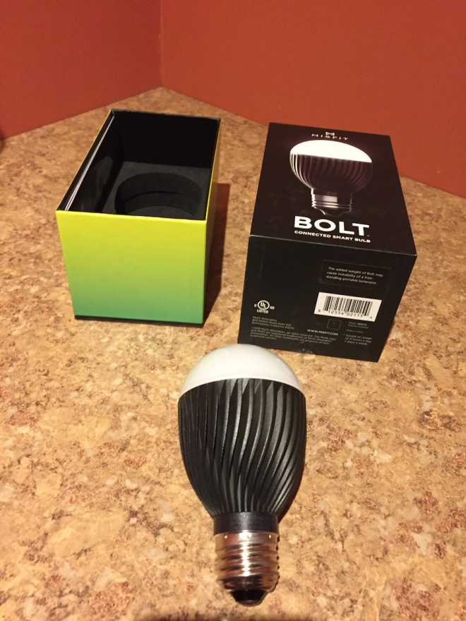 Hardware included with Misfit Bolt, slightly odd egg shape bulb
