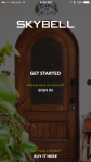 SkyBell HD - Opening splash screen of the app when you first start