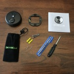 SkyBell HD - Unboxing - Exploded view of what you get, including a drill-bit which is very cool indeed!