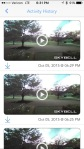 Short clips visible in the app. Can be exported to camera roll (see my sample video)