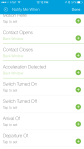 SmartThings - Within the iOS app showing off settings during configuration