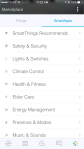 SmartThings - App interface, adding devices and configuring settings