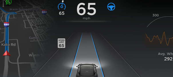 VIDEOS: Tesla Model S with Version 7.0 Software – Autopilot Autonomous Driving