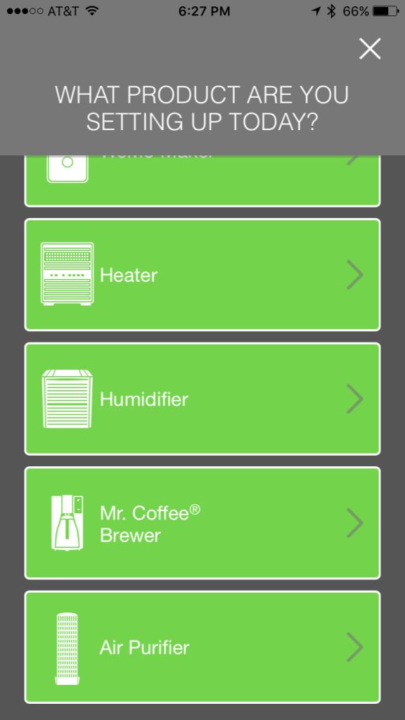 WeMo app setup screen 2 of 2