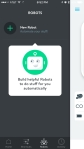 "Wink Hub - iOS App - Creating automation using ""Robots"""