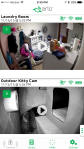 Arlo Wireless Smart Home Security Camera System - Main page showing list of cameras and their last recorded clip still-frame view