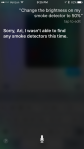 Example of Siri with First Alert OneLink device