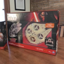 Millennium Falcon Quad-copter by Air Hogs - Close-up of front of package