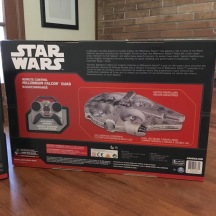 Millennium Falcon Quad-copter by Air Hogs - Rear of package