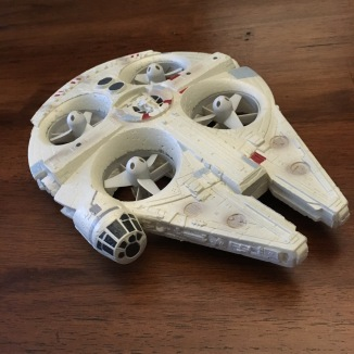 Millennium Falcon Quad-copter by Air Hogs - Close-up of toy