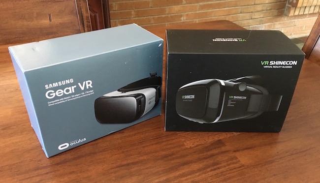 Comparing Google Cardboard versus Samsung Gear VR versus Oculus Rift VRHeadsets