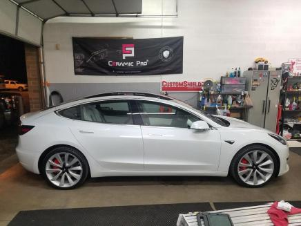 Paint Protection & Ceramic Coating on our new Tesla Model 3